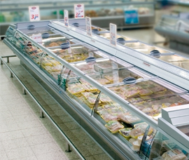 Glass covers for self-service counters - ecoline sb